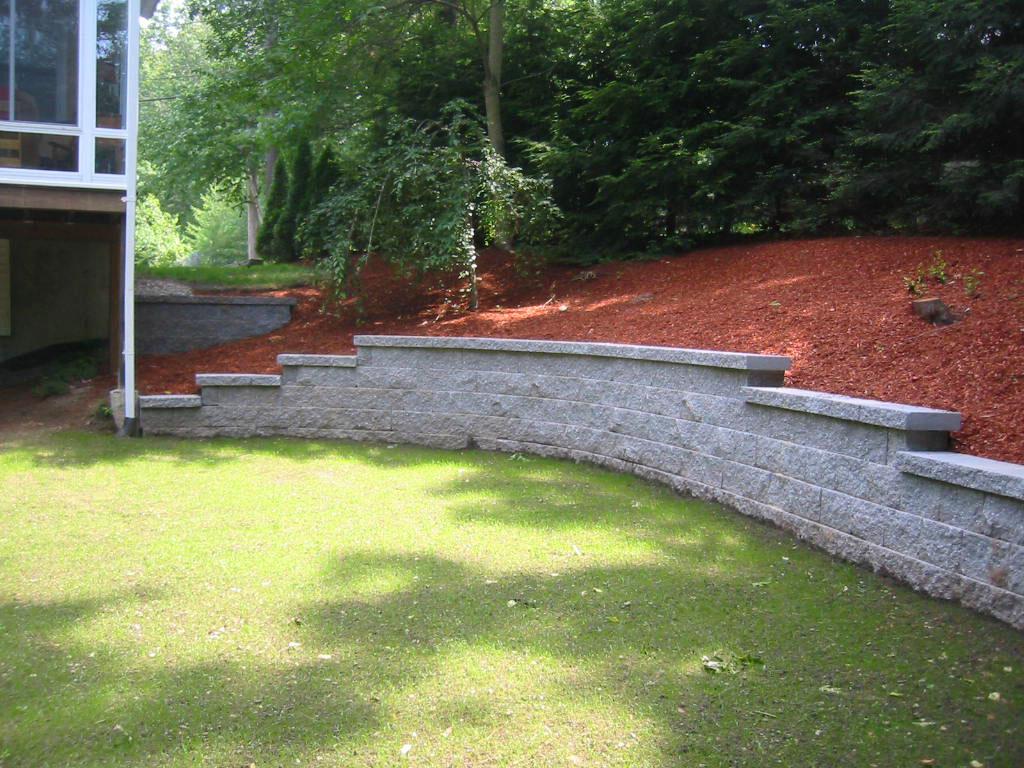 Peabody landscape tewksbury massachusetts commercial for Sloped yard solutions